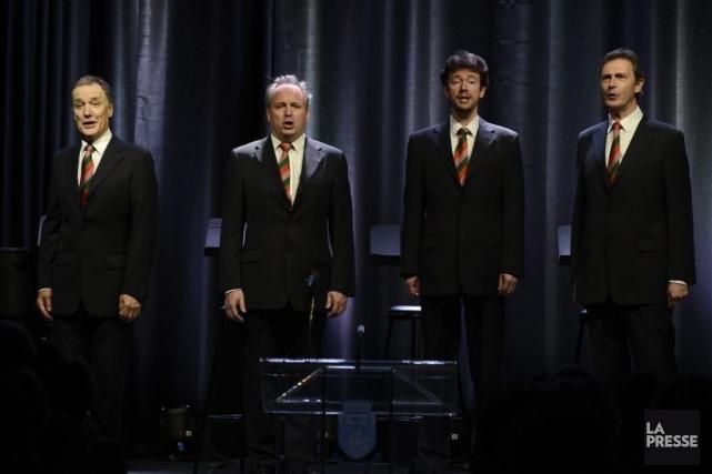 Le quatuor vocal anglais Cantabile - The London... (Photo: Bernard Brault, La Presse)