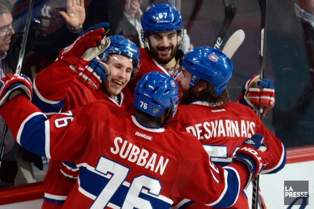 Brendan Gallagher, P.K. Subban, Max Pacioretty et David... (Photo Bernard Brault, La Presse)