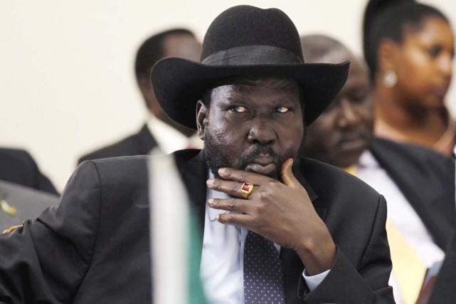 Le président sud-soudanais, Salva Kiir, dans la capitale... (PHOTO THOMAS MUKOYA, ARCHIVES AFP)