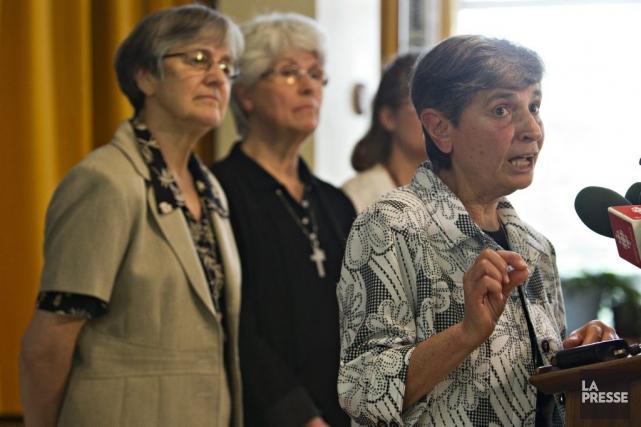 La leader de la Congrégation de Notre-Dame, Josephine... (Photo Olivier Jean, La Presse)