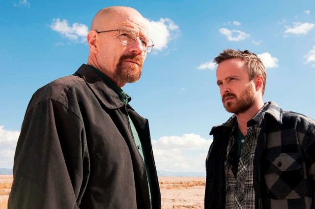Bryan Cranston (à gauche) et Aaron Paul, dans Breaking... (PHOTO ARCHIVES ASSOCIATED PRESS)
