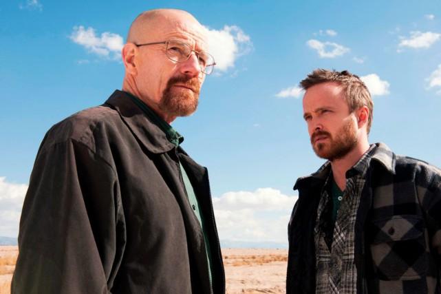Bryan Cranston (à gauche) et Aaron Paul, dansBreaking... (PHOTO ARCHIVES ASSOCIATED PRESS)