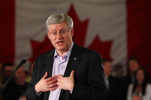 Le premier ministre canadien, Stephen Harper... (Photo Dave Chidley, PC)