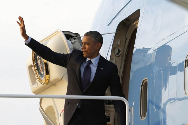Le président des États-Unis Barack Obama s'est envolé lundi soir pour la... (Photo: Reuters)