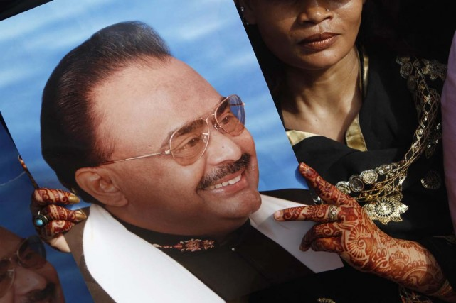 Altaf Hussain s'était exilé à Londres en 1992... (PHOTO SHAKIL ADIL, ARCHIVES AP)