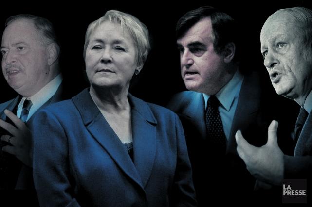 De gauche à droite: Jacques Parizeau, Pauline Marois,... (Photomontage La Presse)