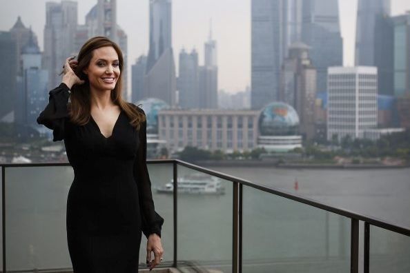 Angelina Jolie à Shanghaï.... (Photo: AFP)