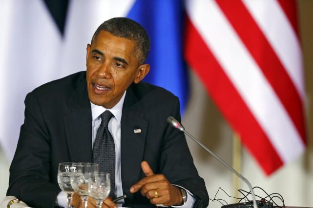 Le président américain Barack Obama... (Photo Kacper Pempel, Reuters)