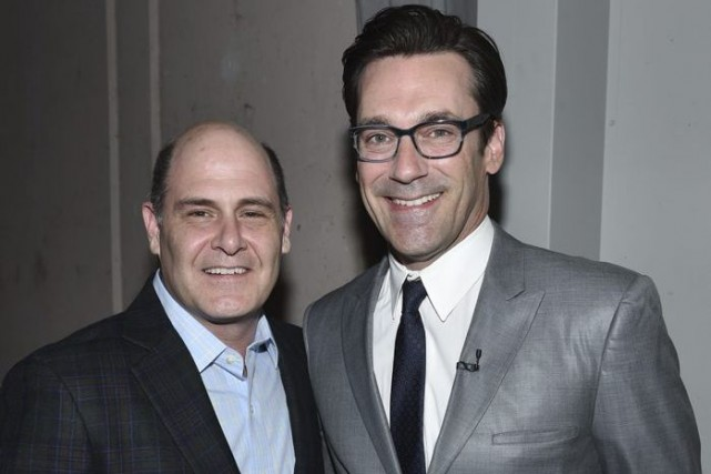 Matthew Weiner et Jon Hamm de Mad Men.... (Photo: AP)
