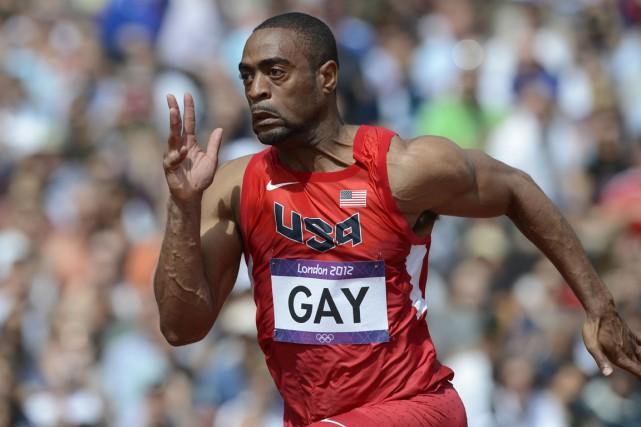 Le sprinteur américain Tyson Gay.... (Photo archives AFP)
