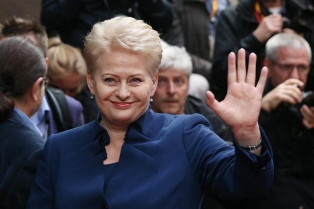 La présidente de la Lituanie, Dalia Grybauskaité.... (PHOTO FRANCOIS LENOIR, ARCHiVES REUTERS)