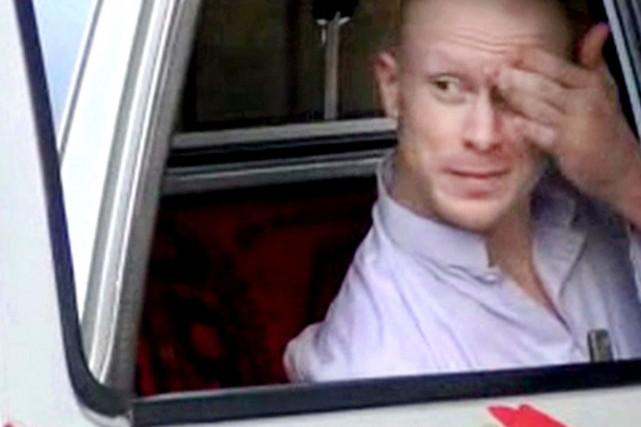 Bowe Bergdahl a été libéré samedi après cinq... (IMAGE AP VIDEO/VOIX DU DJIHAD)
