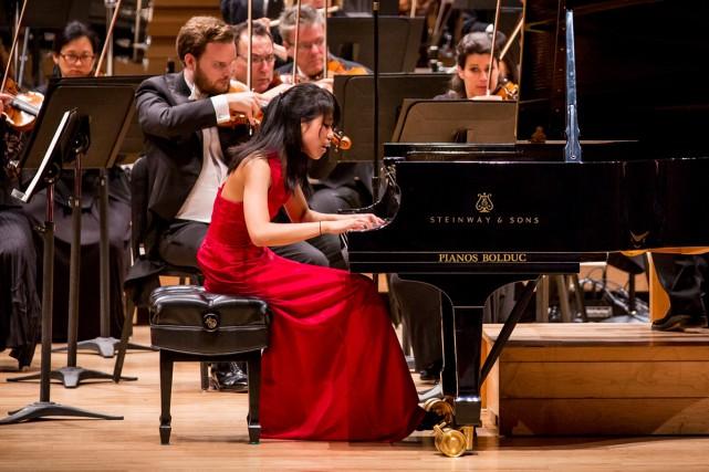 Kate Liu lors de la finale hier soir.... (Photo: fournie par le Concours musical international de Montréal)