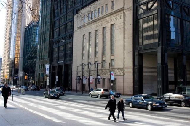 Les débuts officieux de la Bourse de Toronto... (Photo Archives PC)