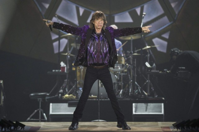 Mick Jagger en spectacle à Tel-Aviv.... (Photo: AFP)