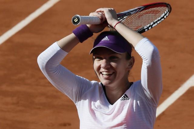 La Roumaine Simona Halep a confirmé son ascension... (Photo Patrick Kovarik, AFP)