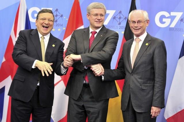 Le premier ministre Stephen Harper a rencontré mercredi... (PHOTO GEORGES GOBET, AFP)