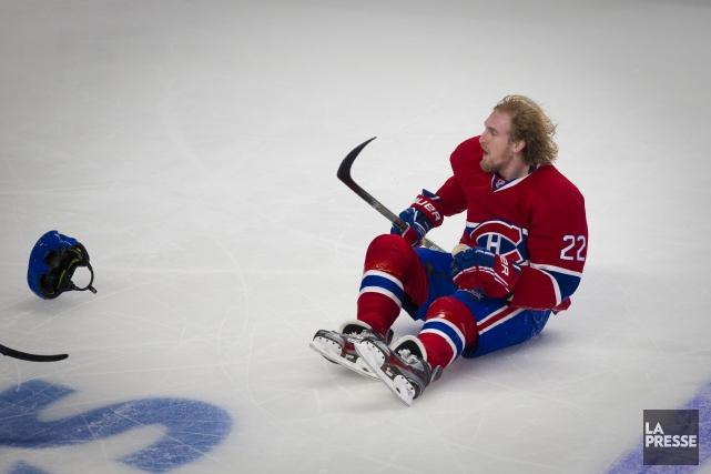 Dale Weise, du Canadien, n'aurait jamais dû revenir... (Photo André Pichette, La Presse)