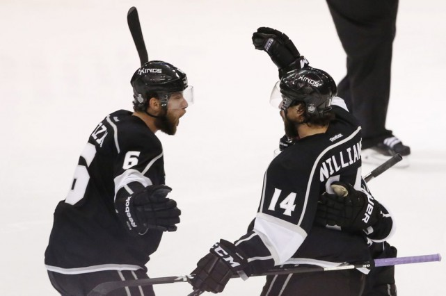 Justin Williams (14) a donné la victoire aux... (Photo archives AFP)