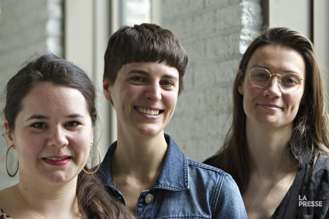 Chacune à leur manière, Vicky Sabourin, Anne-Marie St-Jean... (Photo: Olivier Jean, La Presse)