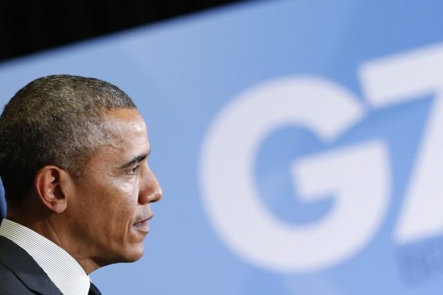 Le président américain, Barack Obama, a donné un... (PHOTO YVES HERMAN, REUTERS)