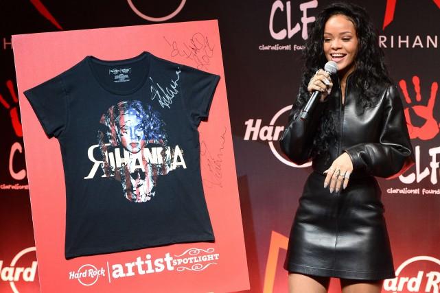 Rihanna s'est associée au groupe Hard Rock International... (Photo BERTRAND GUAY, AFP)