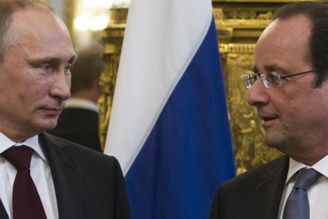 Le président de la France, François Hollande, veut... (Photo Fred Dufour, Agence France-Presse)