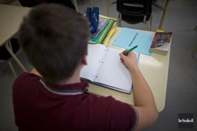 Les élèves pourraient être plus nombreux par classe,... (Photothèque Le Soleil)