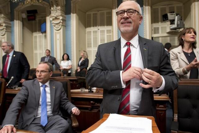 Le ministre des Finances du Québec, Carlos Leitao.... (PHOTO JACQUES BOISSINOT, PC)
