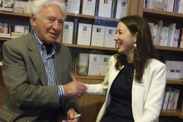Martin Gray explique que la journaliste Mélanie Loisel... (Photo: fournie par Dimédia)