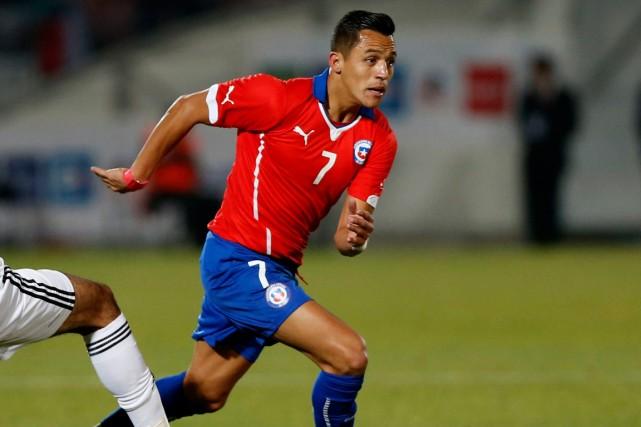 L'attaquant du Chili Alexis Sanchez.... (Photo Ivan Alvarado, Reuters)