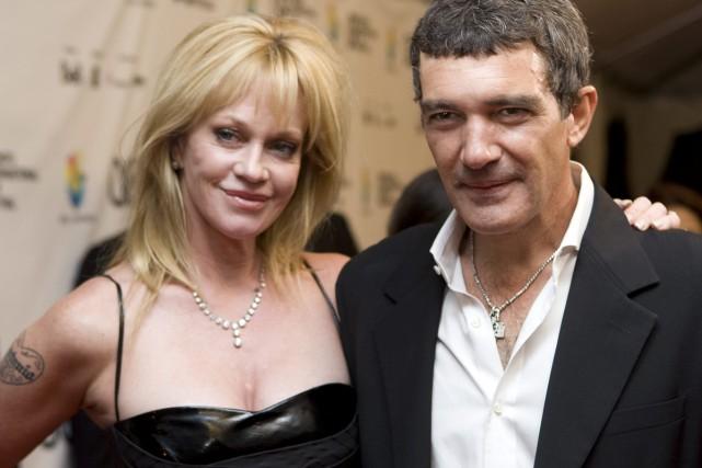 Melanie Griffith et Antonio Banderas en septembre 2008.... (Photo: archives AP)
