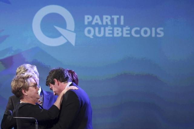 Pauline Marois et Pierre Karl Péladeau lors de... (Photo Christinne Muschi, archives Reuters)