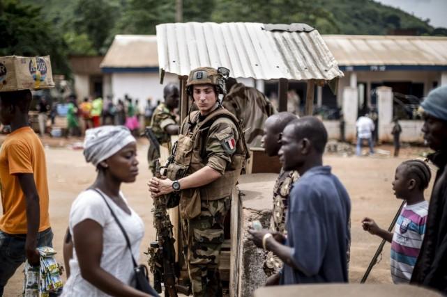 Bangui a connu un regain de violences après... (Photo MARCO LONGARI, AFP)