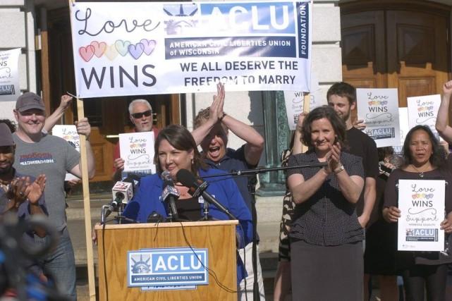 Kristin Wagner, directrice del'Union américaine des libertés civiles,... (Photo Taylor W. Anderson, AP)