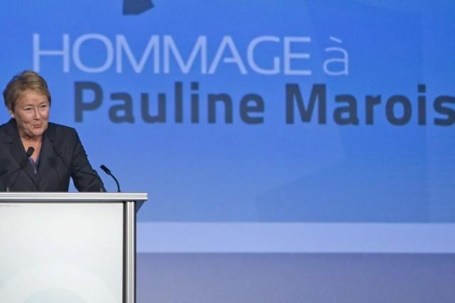 Pauline Maroisquittait officiellement ses fonctions de chef du... (PHOTO CLÉMENT ALLARD, PC)