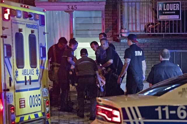 Les policiers se sont rendus dans l'appartement de... (Photo Félix O.J. Fournier, La Presse)