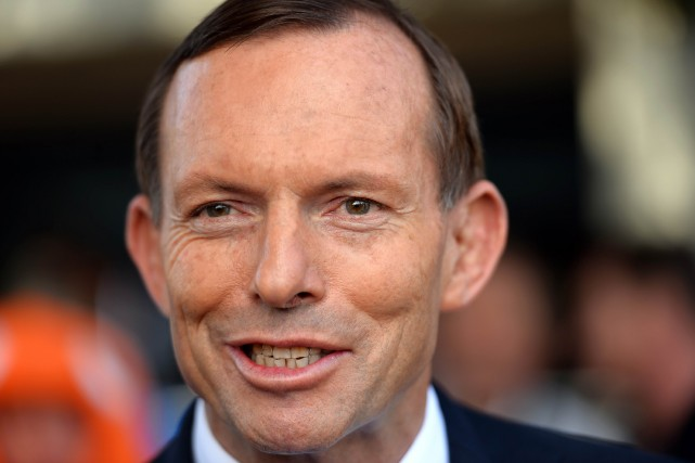 Le premier ministre australien Tony Abbott... (PHOTO SAEED KHAN, AFP)