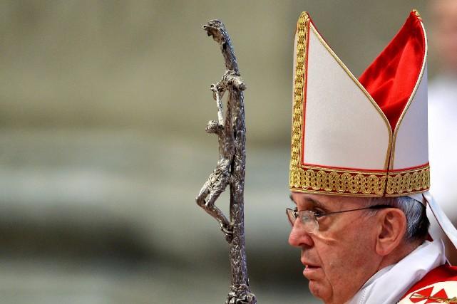 Le pape a renouvelé dimanche l'invite qu'il avait... (Photo ALBERTO PIZZOLI, AFP)