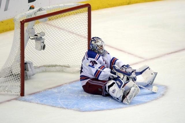 Les Rangers ont échappé trois fois une avance... (Photo Richard Mackson, USA TODAY)