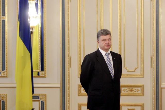 Le nouveau président ukrainien Petro Porochenko.... (PHOTO VALENTYN OGIRENKO, REUTERS)