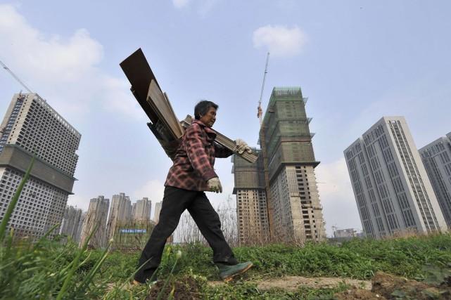 Les prix immobiliers ont reculé en août pour... (PHOTO WANG ZHAO, AFP)