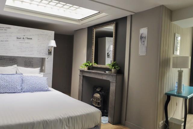 La chambre Mauriac à La Villa, à Bordeaux.... (Photo fournie par l'hôtel.)
