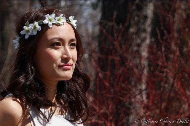Couronne de fleurs style cosmos. Capelio, 35$, en... (Photo fournie par Capelio)