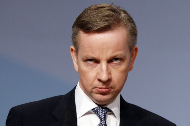 Le ministre britannique de l'Éducation Michael Gove.... (PHOTO KIRSTY WIGGLESWORTH, ARCHIVES AP)