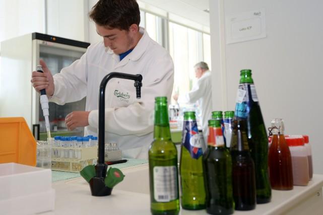 L'entreprise alsacienne du groupe Carlsberg, engagée dans une... (Photo PATRICK HERTZOG,)