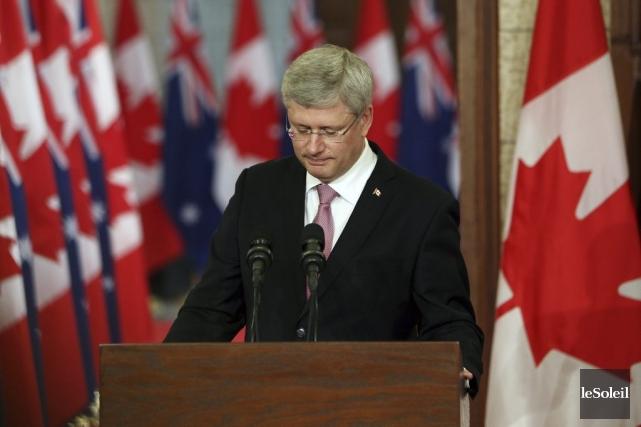 Stephen Harpera réitéré que le Canada a un... (Photothèque Le Soleil)