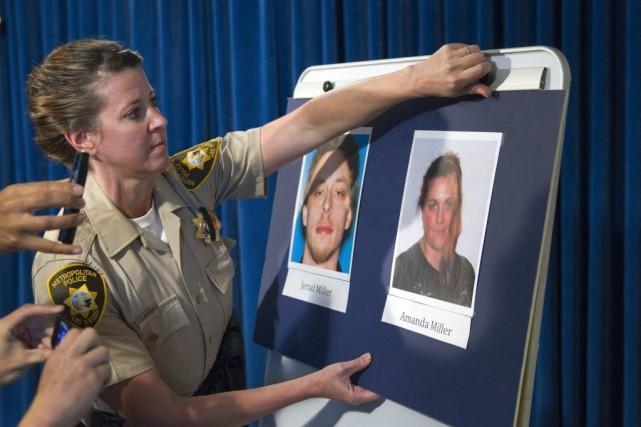 En conférence de presse lundi, les deux suspects,... (PHOTO STEVE MARCUS, REUTERS)