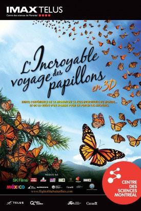 L' Incroyable voyage des papillons 3D