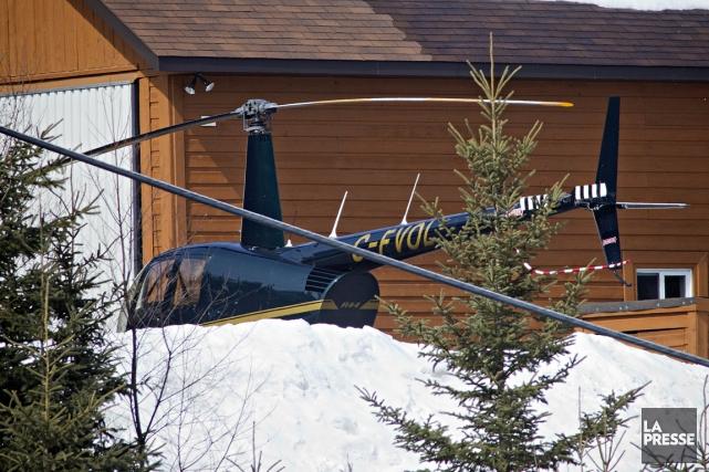 Voici l'hélicoptère qui a été impliqué dans l'évasion... (Photo Patrick Sanfaçon, archives La Presse)